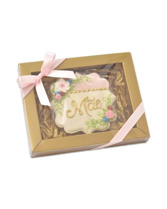 Bolacha de Mel - Placa Mãe com flores coloridas 3D