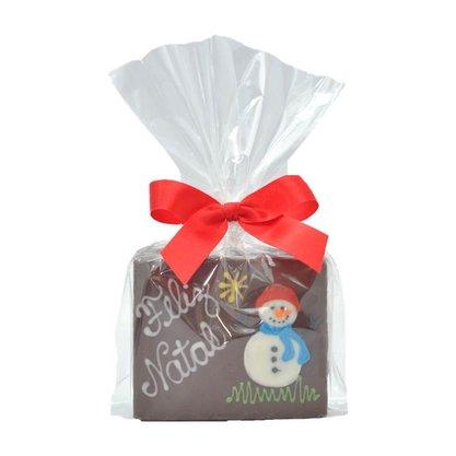 Bolinho de Mel com Chocolate Preto - Boneco de Neve inteiro 70g