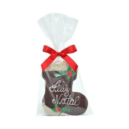 Bota Feliz Natal pão de mel com chocolate 30g