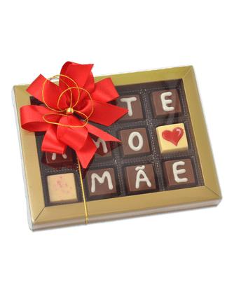 Caixa com bombons de chocolates - Te Amo Mãe