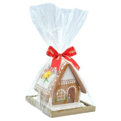 Casa 3D com Sino e Feliz Natal no telhado 490g