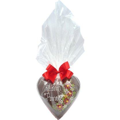 Coração de Chocolate 350g Com Amor
