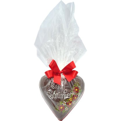 Coração de Chocolate 350g Com Carinho