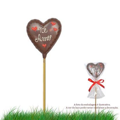 Coração de chocolate no palito 20g Te Amo