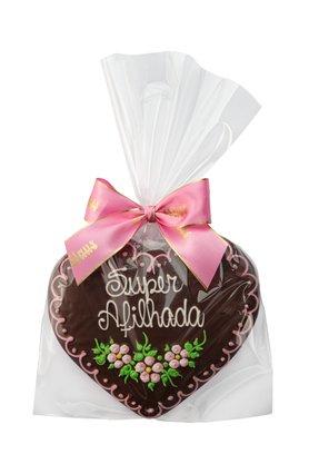 Coração de Pão de Mel com Chocolate 120g Super Afilhada