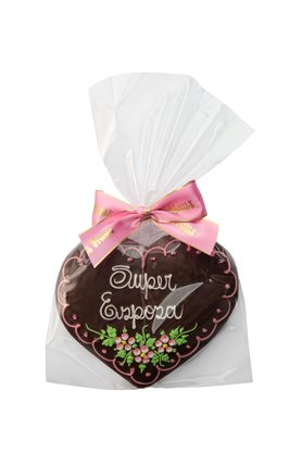 Coração de Pão de Mel com Chocolate 120g Super Esposa
