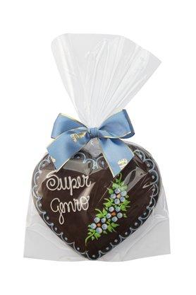 Coração de Pão de Mel com Chocolate 120g Super Genro