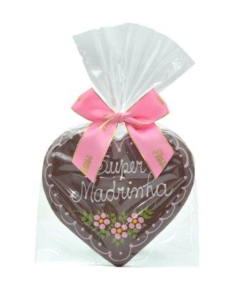 Coração de Pão de Mel com Chocolate 120g Super Madrinha