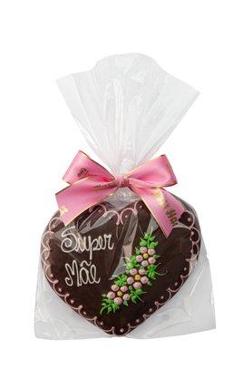 Coração de Pão de Mel com Chocolate 120g Super Mãe