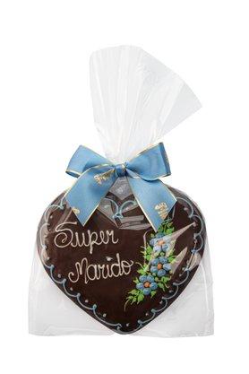 Coração de Pão de Mel com Chocolate 120g Super Marido