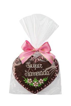 Coração de Pão de Mel com Chocolate 120g Super Namorada