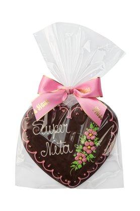 Coração de Pão de Mel com Chocolate 120g Super Neta