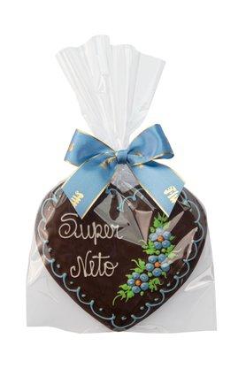 Coração de Pão de Mel com Chocolate 120g Super Neto