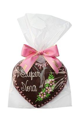 Coração de Pão de Mel com Chocolate 120g Super Nora