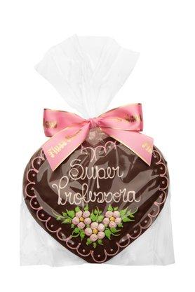 Coração de Pão de Mel com Chocolate 120g Super Professora