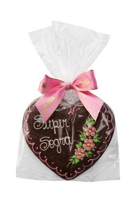 Coração de Pão de Mel com Chocolate 120g Super Sogra