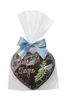 Coração de Pão de Mel com Chocolate 120g Super Sogro