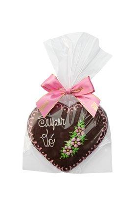 Coração de Pão de Mel com Chocolate 120g Super Vó