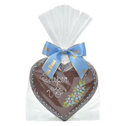 Coração de Pão de Mel com Chocolate 120g Super Vô