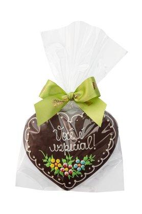 Coração de Pão de Mel com Chocolate 120g Você é Especial
