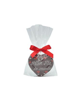 Coração de Pão de Mel com Chocolate 15g - A melhor Mãe do mundo