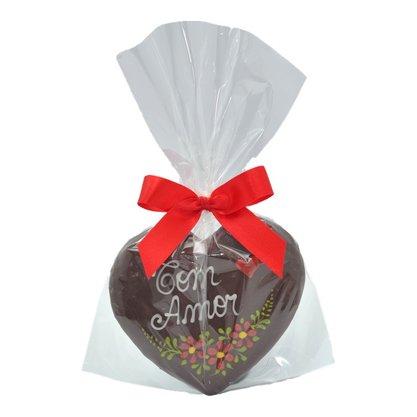 Coração de Pão de Mel com Chocolate 30g - Com Amor - CA