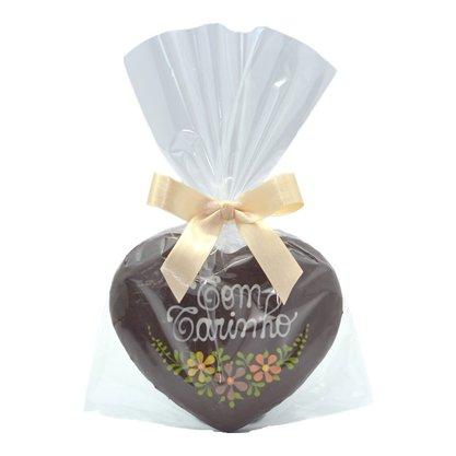 Coração de Pão de Mel com Chocolate 30g - Com Carinho - CM