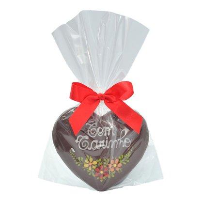 Coração de Pão de Mel com Chocolate 30g - Com Carinho - CV