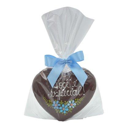 Coração de Pão de Mel com Chocolate 30g - Você é Especial - EA
