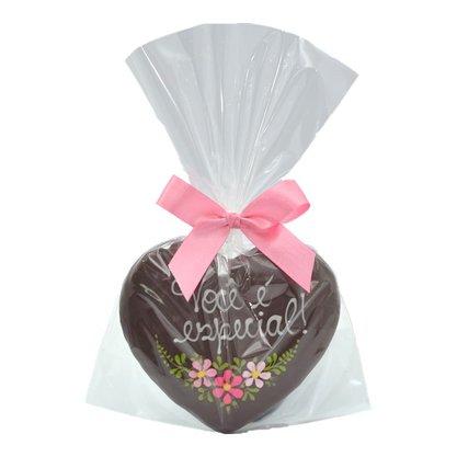 Coração de Pão de Mel com Chocolate 30g -  Você é Especial - ER