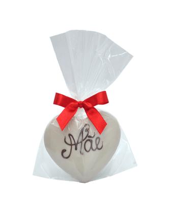 Coração de Pão de Mel com Chocolate Branco 30g - Mãe