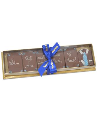 Kit barrinhas de chocolate com frase 150g