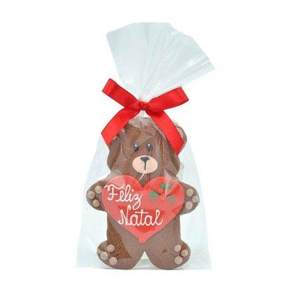Bolacha de Chocolate - Urso com Coração 30g