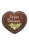 Coração de Pão de Mel com Chocolate 120g Super Professor